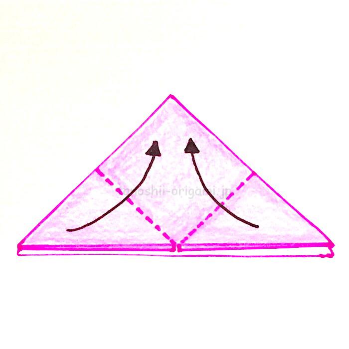 6.角と角を合わせるように折る-2