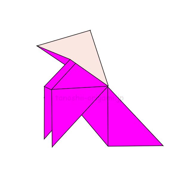 7.折り紙のパハリータの完成