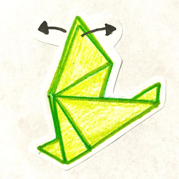 7.翼になる部分を開く