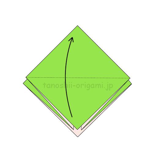 7.1枚上に向けて半分に折る-2