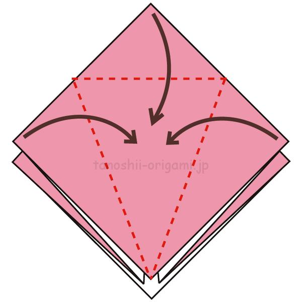 7.3カ所に折り線をつける