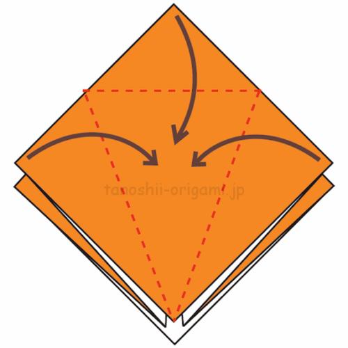 7.3カ所に折り線をつける-5