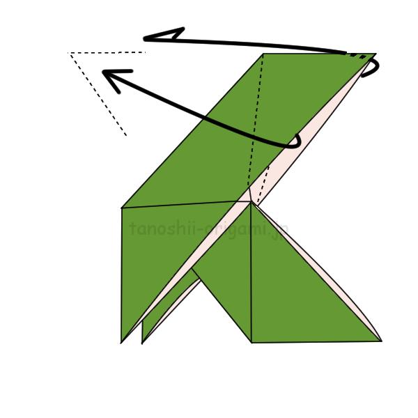 8.ほかけぶねを上下逆さまにしてかぶせ折りしても作れる