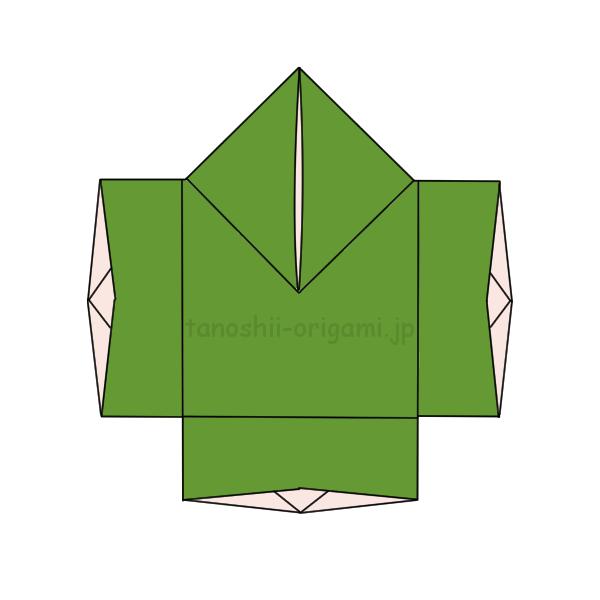 8.折り紙のやっこの完成
