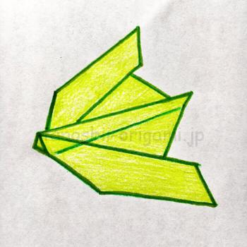 8.折り紙の伝書鳩(でんしょばと)の完成