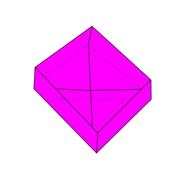 9.折り紙の箱の完成