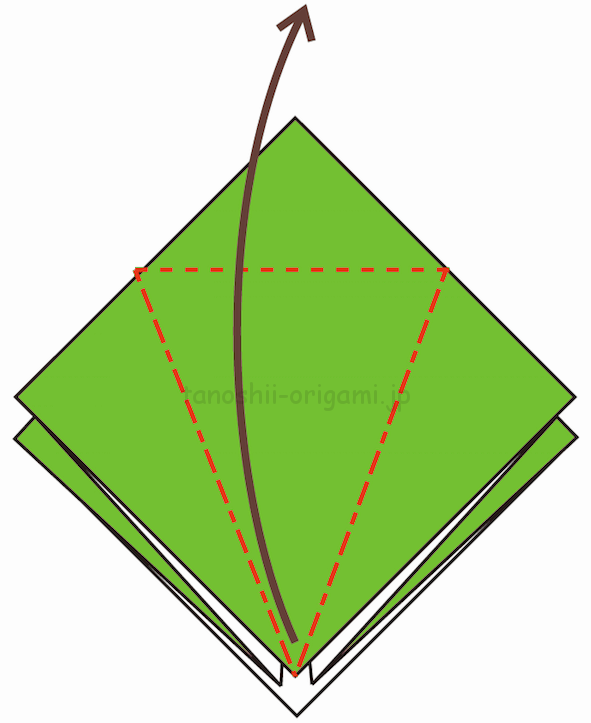 9.折り線に合わせて開いて折る-3