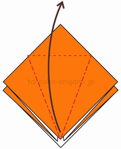 9.折り線に合わせて開いて折る-4