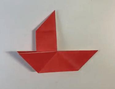 折り紙のだまし船の作り方