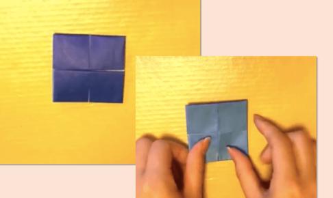 折り紙のにじゅうものいれ