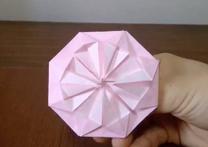 折り紙のはなもようの折り方