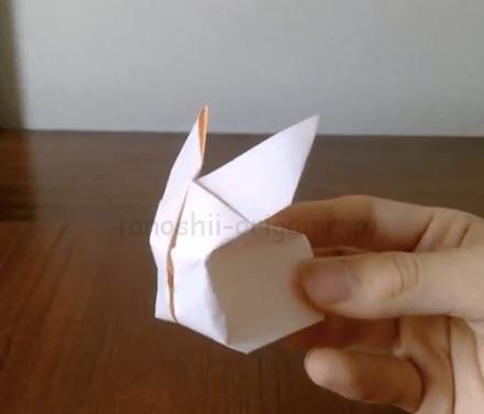 折り紙の立体のうさぎの折り方