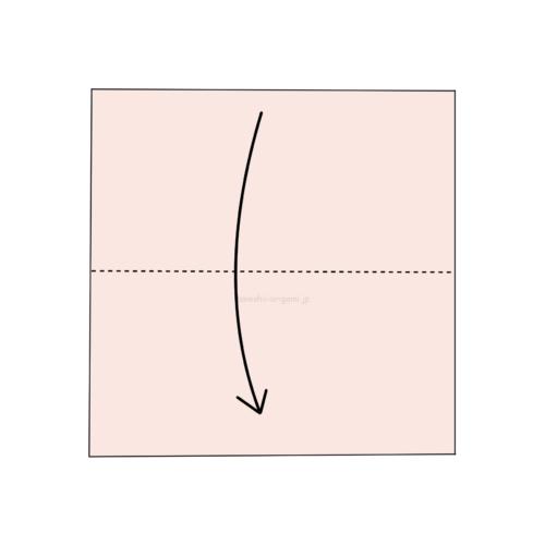 1.折り紙を半分に折る-5