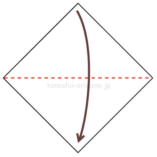 1.折り紙を半分に折る-6