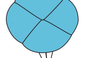 12.折り紙のあさがおの完成
