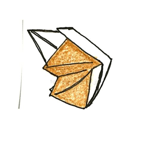 12.折り紙のきつねの完成