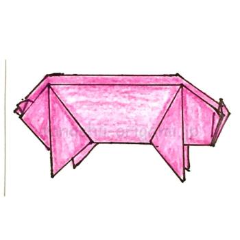 12.折り紙のぶたの折り方