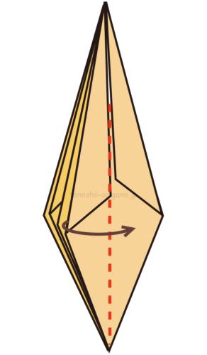12.1枚を反対側に折り組み替える(裏側も)
