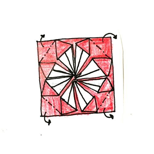 14.4つの角を裏側に折る