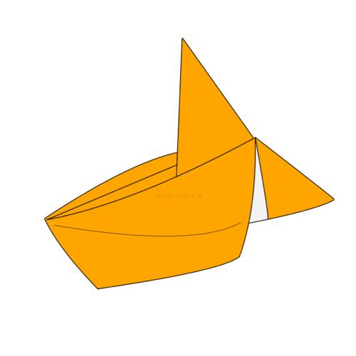 15.折り紙の金魚の完成!