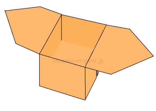 16.折り紙のさんぼうaの完成