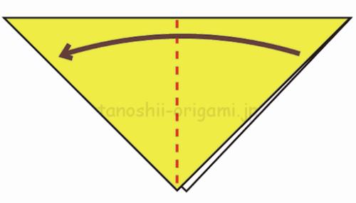 2.さらに折り紙を半分に折る-3-2