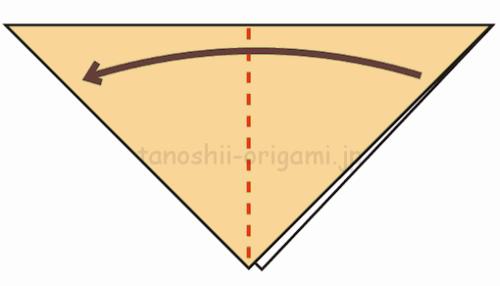 2.さらに折り紙を半分に折る-3