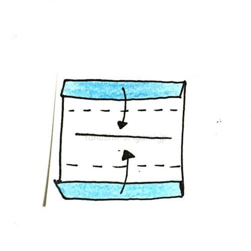 3.折り線に合わせて折っていく