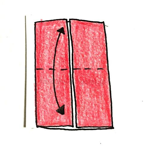 3.縦に半分に折る