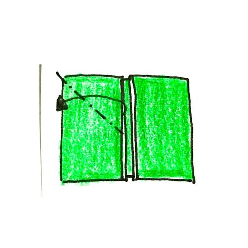 4.斜めに折り線をつけてから開く