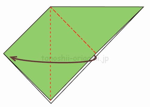 5.反対側も開いて潰すように折る-9