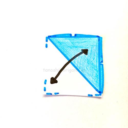 5.斜めに折り線をつける-3