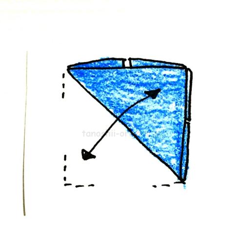 5.斜めに折る
