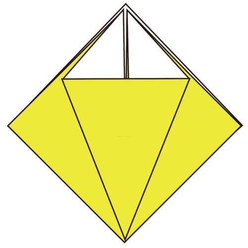 7.こうなります。他の3ヶ所も同じように折る-3