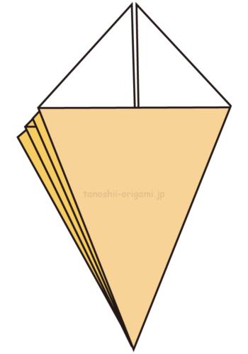 8.他の3ヶ所も同じように折る