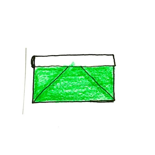 9.折り紙の財布の完成