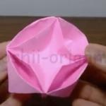 折り紙の花箱の折り方 (2)