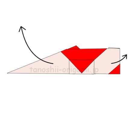 14.ゆっくり左右に引っ張って重なっている部分を引き出す