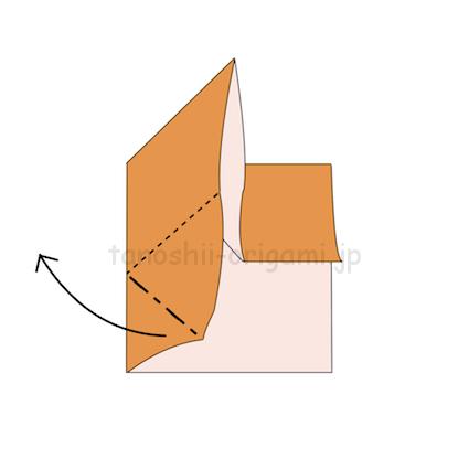 2.他の角も同じように折っていく