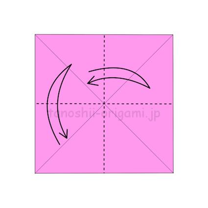 2.縦と横におり線をつける (2)