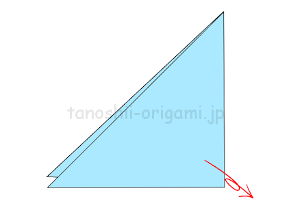 3.折り紙を広げる