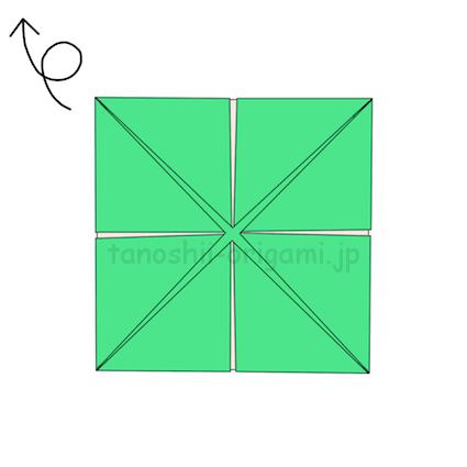 5.折り紙を裏返す