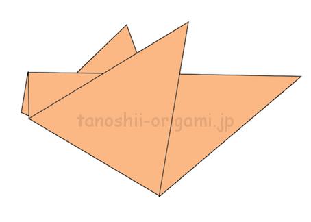 6.折り紙のすずめの完成!