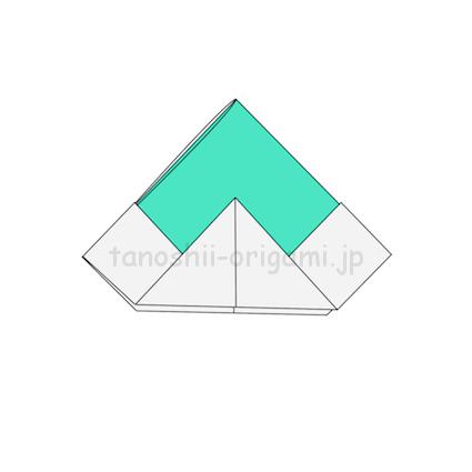 7.折り紙の兜(かぶと)の完成!