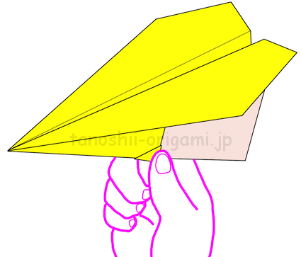 7.折り紙の三角飛行機の完成!