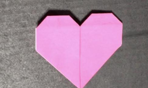 折り紙の簡単なハート
