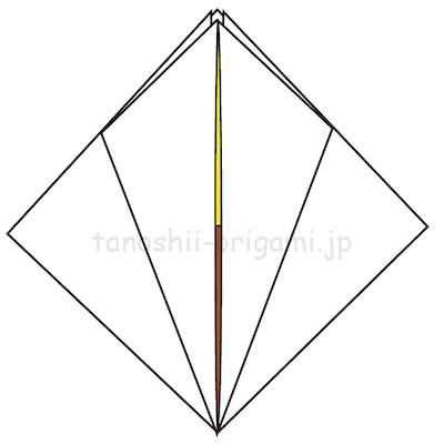 11.反対側も工程8~10のように折る。他の部分も同様に折る。