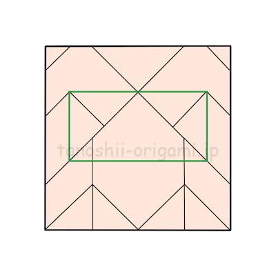 14.文字を書くなら枠線の中のあたりに書きます。