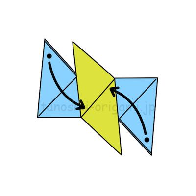 9.また黒い点の部分を差し込みます。