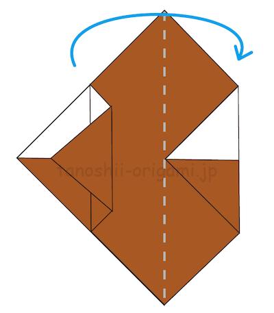 9.左側の2枚を右側にめくる。